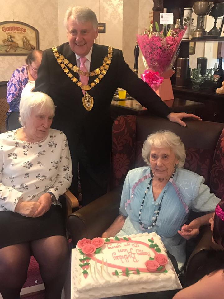 Mayor visits for Nellie's 101st Birthday