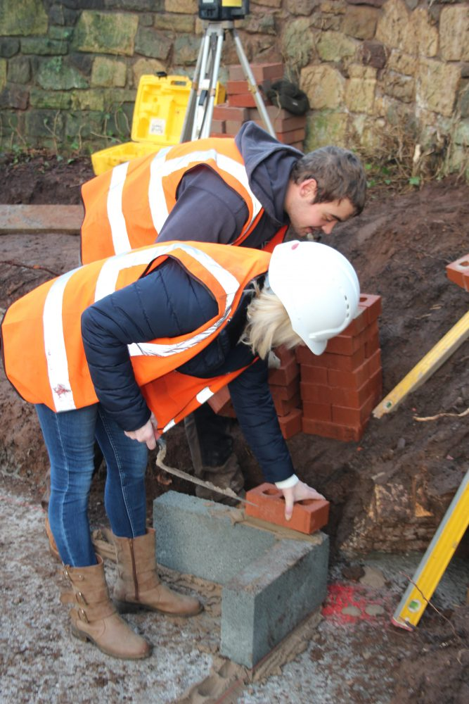 First brick laid for new extension